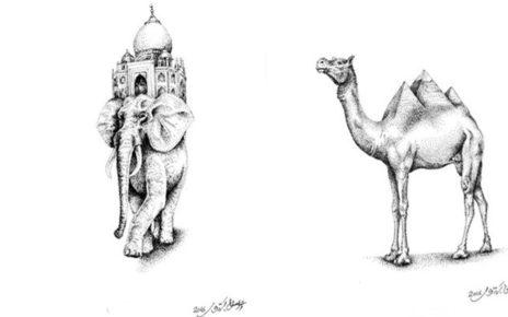 Bila Hewan dan Landmark Kota di Dunia Disatukan