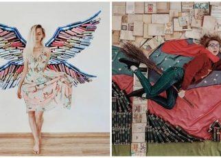 Wanita Ini Ubah Buku Jadi Backdrop untuk Pemotretan, 7 Hasilnya Mengagumkan