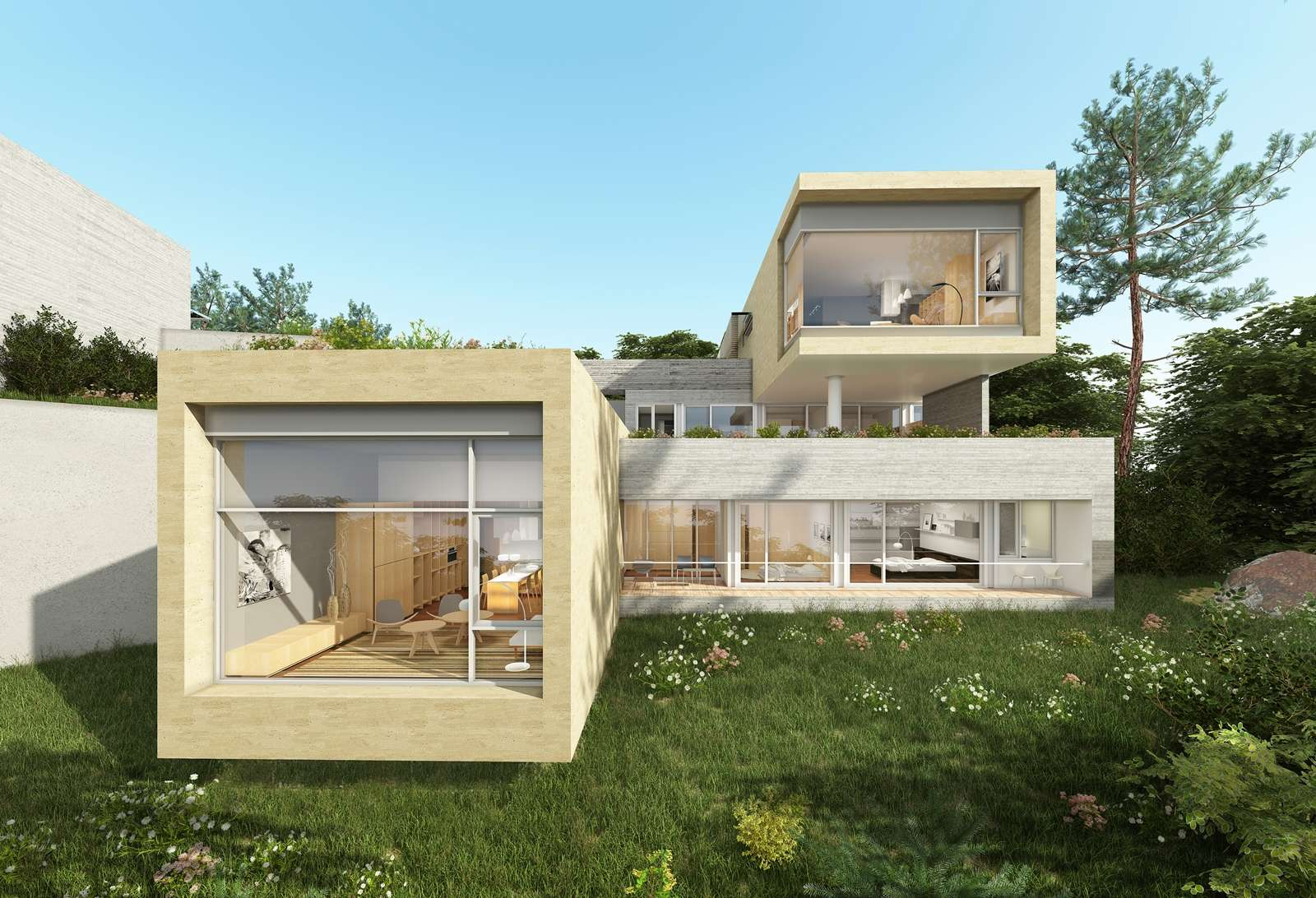 Desain Rumah Mewah Ala Korea Contemporary House Design Architecture House Modern Contemporary Homes